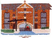 Abacus Designs Clock Warehouse, Shardlow, Derbyshire Cross Stitch Kit