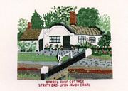 Abacus Designs Barrel Roof Cottage, Stratford Canal Cross Stitch Kit