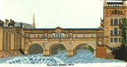 Pulteney Bridge, Bath - Abacus Designs Cross Stitch Kit