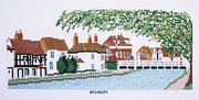 West Mills, Newbury, Kennet and Avon Canal - Abacus Designs Cross Stitch Kit