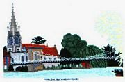 Marlow (Bridge and Church), Bucks - Abacus Designs Cross Stitch Kit