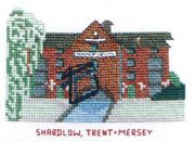 Shardlow, Trent and Mersey Canal - Abacus Designs Cross Stitch Kit