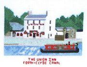 The Union Inn, Forth and Clyde Canal - Abacus Designs Cross Stitch Kit
