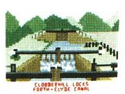 Clobberhill Locks, Forth and Clyde Canal - Abacus Designs Cross Stitch Kit