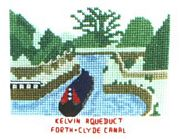 Kelvin Aqueduct, Forth and Clyde Canal - Abacus Designs Cross Stitch Kit