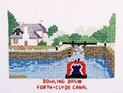 Bowling Basin, Forth and Clyde Canal - Abacus Designs Cross Stitch Kit