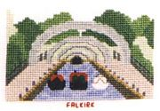 Falkirk (view from top of Falkirk Wheel), Union Canal - Abacus Designs Cross Stitch Kit