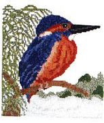 Abacus Designs Kingfisher Cross Stitch Kit
