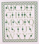 Abacus Designs Alphabet Sampler - Green Cross Stitch Kit
