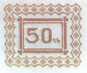 Abacus Designs 50th (Golden) Anniversary Wedding Sampler Cross Stitch Kit