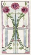 Derwentwater Designs Mackintosh Panel - Rose Bouquet Cross Stitch Kit