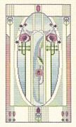Derwentwater Designs Mackintosh Panel - Love Birds Cross Stitch Kit