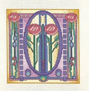 Derwentwater Designs Mackintosh Tile Cross Stitch Kit