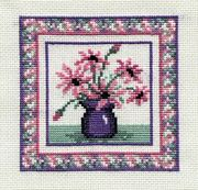 Derwentwater Designs Pink Daisies Cross Stitch Kit