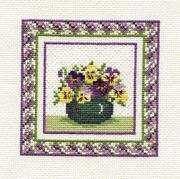 Derwentwater Designs Pansies Cross Stitch Kit