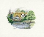 Derwentwater Designs Village Pond Cross Stitch Kit