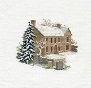 Derwentwater Designs Bronte Parsonage Cross Stitch Kit