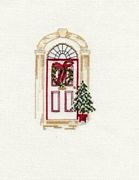 Derwentwater Designs Christmas Door Christmas Card Making Cross Stitch Kit