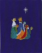 Derwentwater Designs We Three Kings Christmas Card Making Cross Stitch Kit