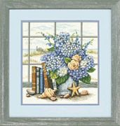 Hydrangeas and Shells - Dimensions Cross Stitch Kit