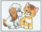 Puppy and Kitten - Pako Tapestry Kit