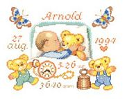 Pako Bear Birth Sampler Cross Stitch Kit