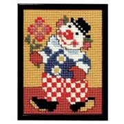 Pako Clown with Flowers Cross Stitch Kit