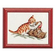 Pako Kittens Playing Cross Stitch