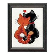 Cats in Love - Pako Cross Stitch Kit