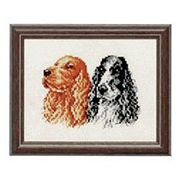 Pair of Cocker Spaniels - Pako Cross Stitch Kit