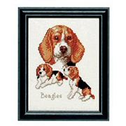 Pako Beagles Cross Stitch Kit