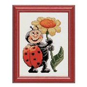 Pako Ladybird and Flower Cross Stitch Kit