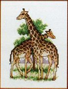 Giraffe Pair - Pako Cross Stitch Kit