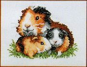 Guinea Pigs - Pako Cross Stitch Kit
