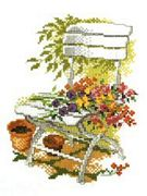 Flowers on a Chair - Pako Cross Stitch Kit
