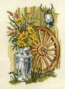 Flowers in a Milk Churn - Pako Cross Stitch Kit