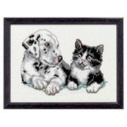 Dog and Cat - Pako Cross Stitch Kit