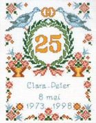 Pako Wedding Anniversary Wedding Sampler Cross Stitch Kit