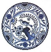 Blue and White Plate - Pako Cross Stitch Kit
