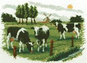 Pako Cows Grazing Cross Stitch Kit