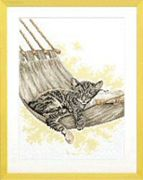 Cat in a Hammock - Pako Cross Stitch Kit