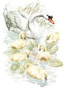 Swan Family - Pako Cross Stitch Kit