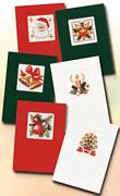 Six Christmas Cards - Pako Cross Stitch Card Design