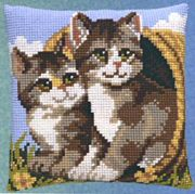 Two Cats in a Basket - Pako Cross Stitch Kit