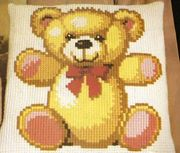 Pako Teddy With Ribbon Cross Stitch Kit