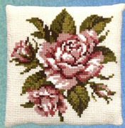 Pako Pink Rose Cross Stitch Kit
