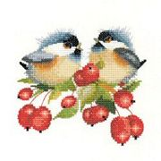 Berry Chick-Chat - Aida - Heritage Cross Stitch Kit