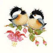 Fuchsia Chick-Chat - Aida - Heritage Cross Stitch Kit