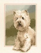 Westie - Aida - Heritage Cross Stitch Kit
