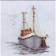 Derwentwater Designs Fishing Boat Cross Stitch Kit